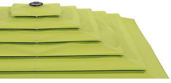 Grünes Schirmdach als Variante Pagode