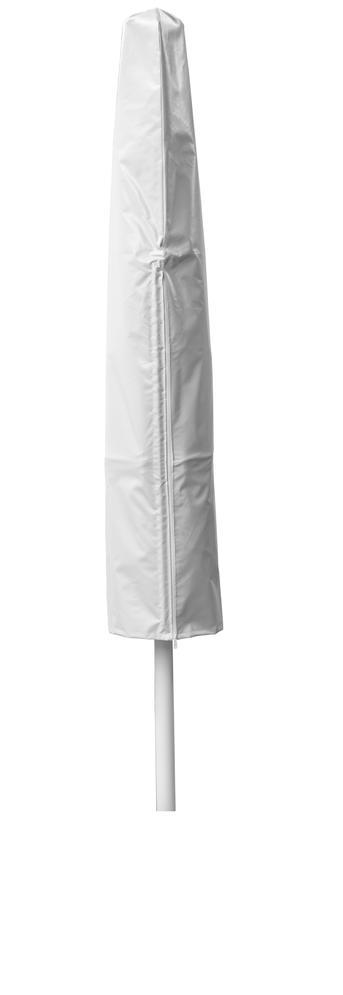 Schirm in weißer Schutzhülle