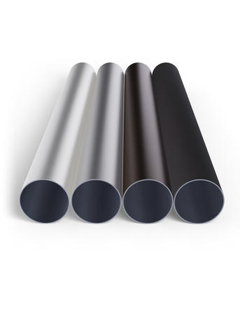 Four tubes in white, brown and anthracite