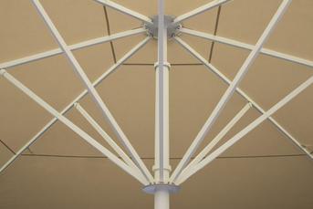 Beige canopy with white aluminium frame