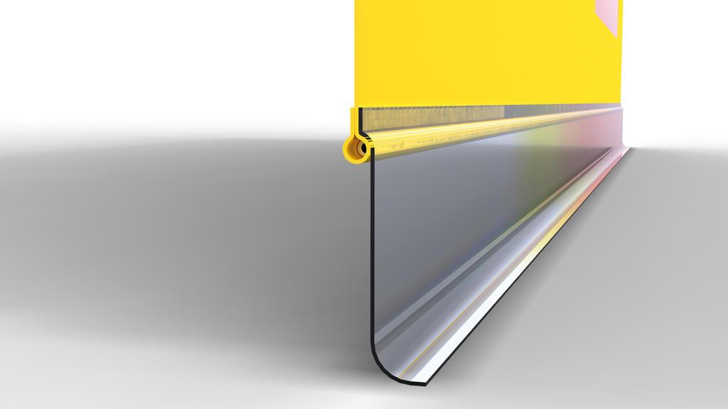 Variable bottom end of side sheet