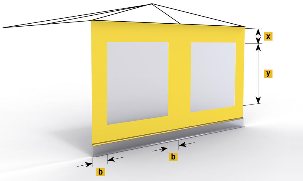 A309 Side sheet with one window per roof segment