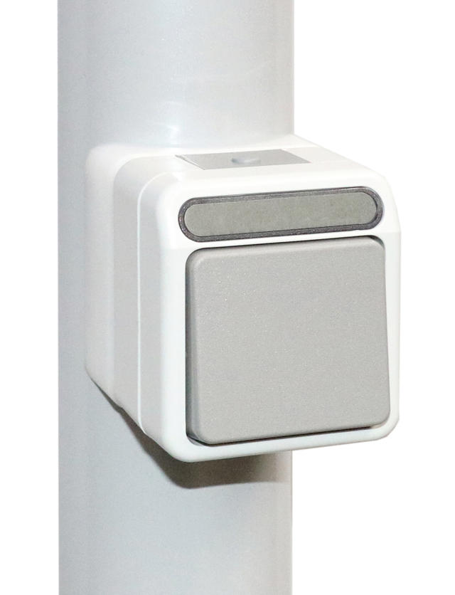 Timer switch, by rocker switch at the support pole