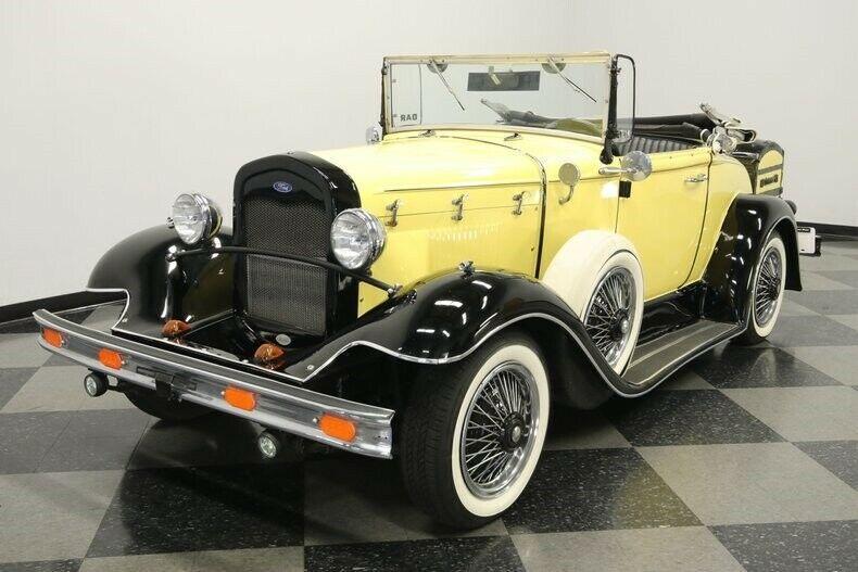classic 1931 Ford Model A Rumble Seat Roadster Replica