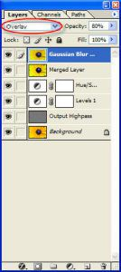 Figure 5 - Layers Palette with Gaussian Blur Applied