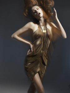 EXHIBIT IMAGE: Featuring top model Jessica Lewis.