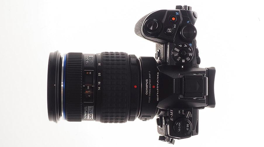 Shown here with the MMF-3 Adapter