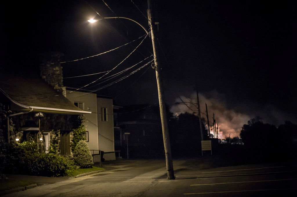 July 6, 2013, 20 hours after the explosion.  Copyright 2013 Michel Huneault