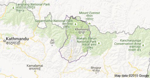 Solukhumbu district of Nepal Map