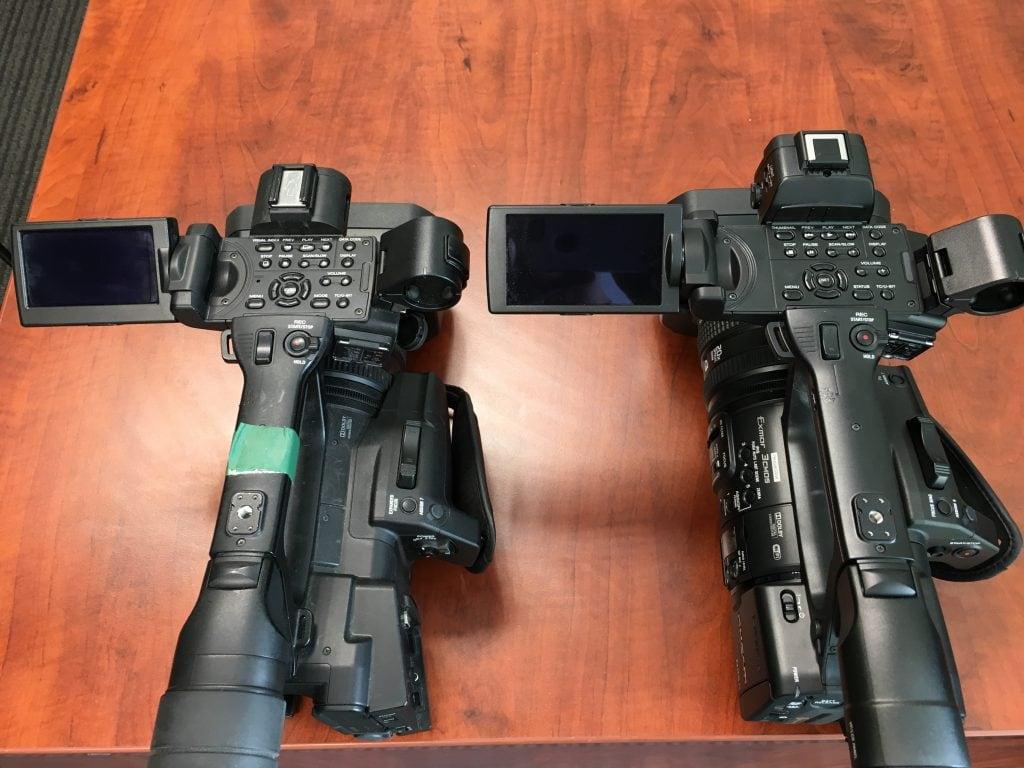Sony HXR-NX5R beside HRX-N5X