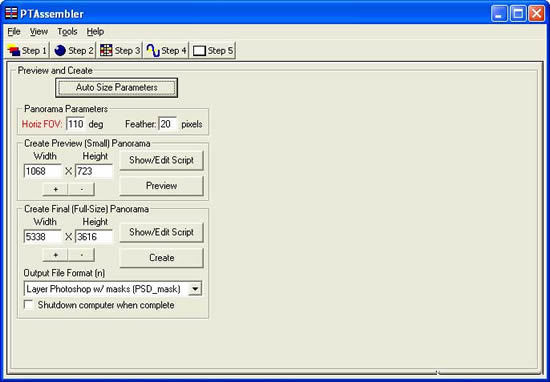 PTAssembler Preview and Create Panel
