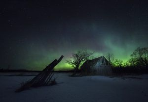 Night Photo showing Northern Lights - Peter Baumgarten