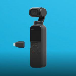 DJI Osmo Pocket showing universal adapter