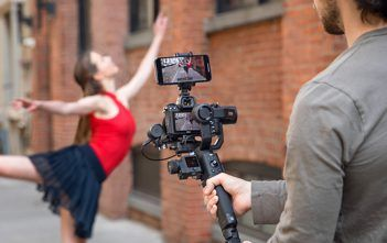 DJI Ronin SC in use filming dancer