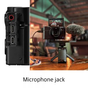 X100 VII showing the mic jack