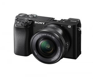 Sony a6100 mirrorless camera side view