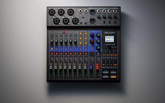 Zoom LiveTrak L-8 Portable Digital Mixer and Recorder