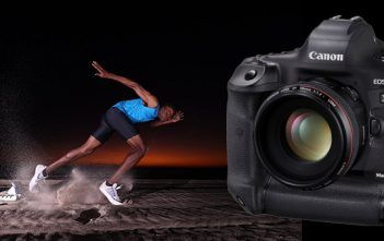 Canon 1DX Mark III with sample image of runner