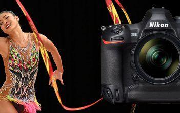Nikon D6 Camera with Ribbon Gymnast