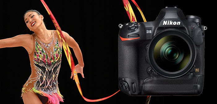 Nikon D6 Camera with Ribbon Gymnast