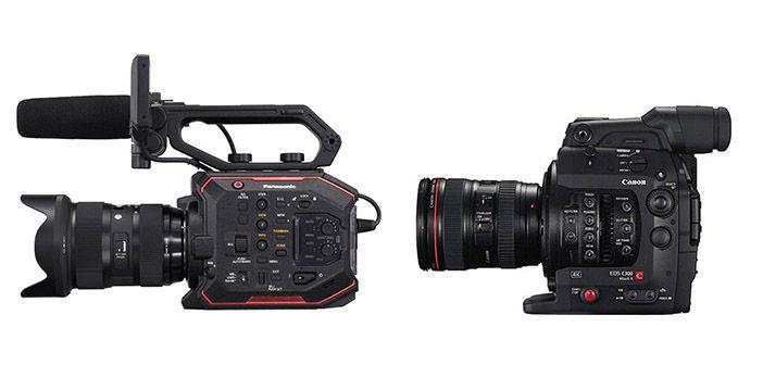 Panasonic EVA1 & Canon C300 Mark II Cameras