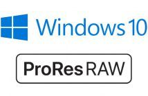 Apple ProRes RAW and Windows 10