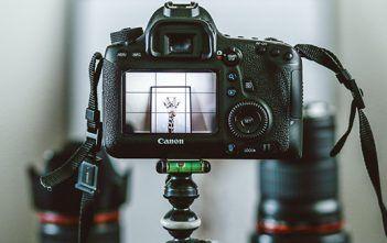 Canon Camera on Tripod - EOS Webcam Utility Beta