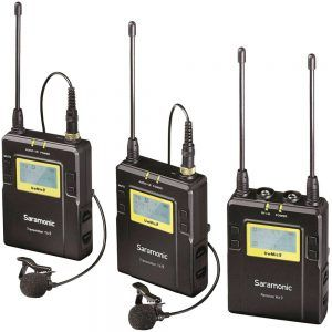 Saramonic UwMic9 DTLK - Dual TX LAV Kit - UHF Wireless Mic System