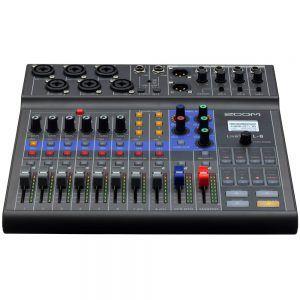 Zoom LiveTrak L-8, 8-Channel Mixer (6 combo, + 2 TS)