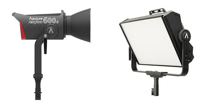 Aputure P600d and P300c Lights