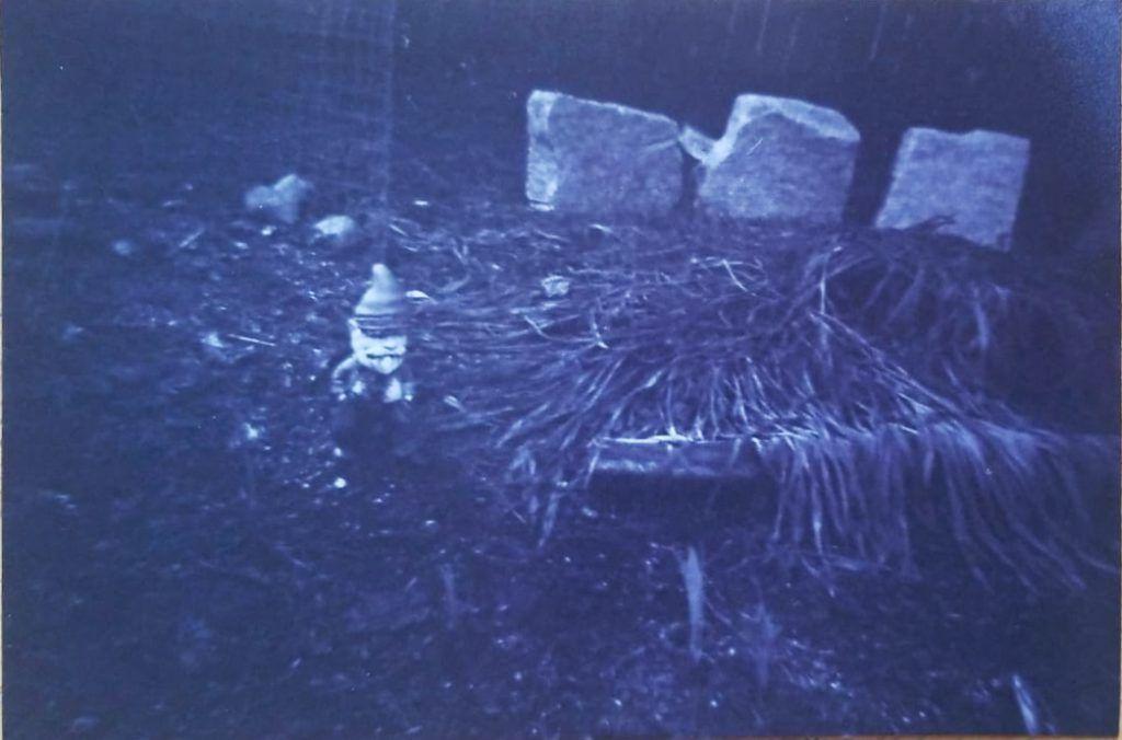 Child behind camera shot 5 - black and white image