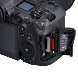 EOS R5 Card Slots and Controls
