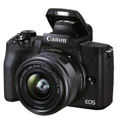Canon EOS M50 Mark II with pop up flash