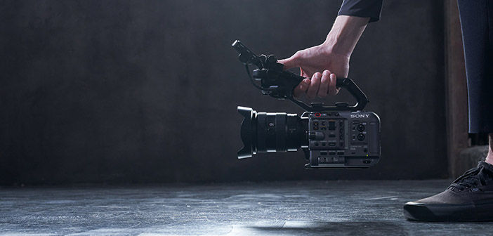 Man holding Sony FX6 close to floor