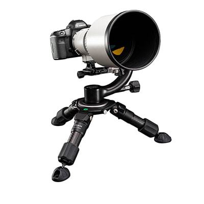 Induro Baby Grand Tripods with Camera and Long Lens