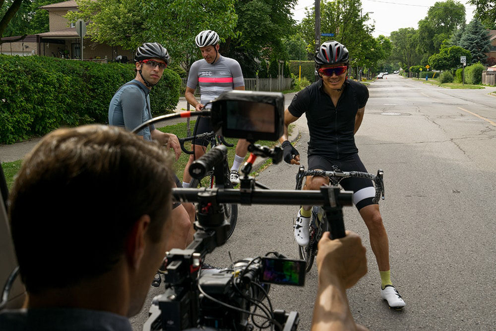 Riders being filmed © Jeff Becker
