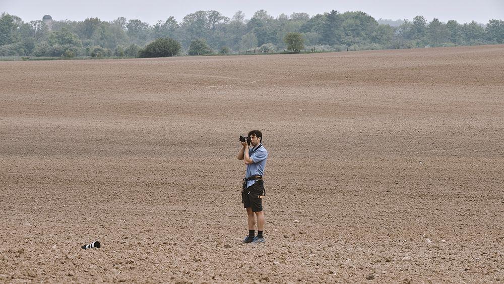 Bojan standing in a field