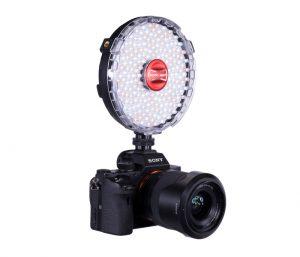 Rotolight NEO 2 mounted on Camera