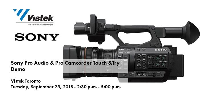 Sony Pro Audio and Camcorder Event