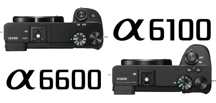 Sony a6600 and a6100 cameras