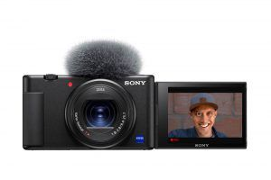 Sony ZV-1 Front with screen out
