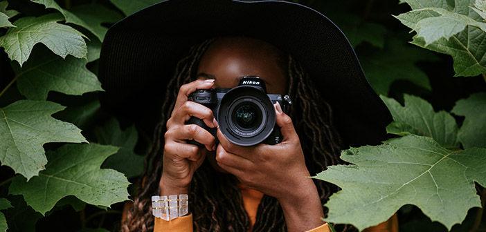Woman holding Nikon Z 5 Camera