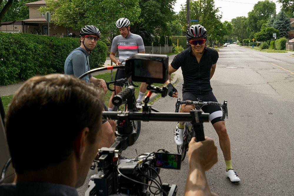 Riders being filmed © Jeff Becker