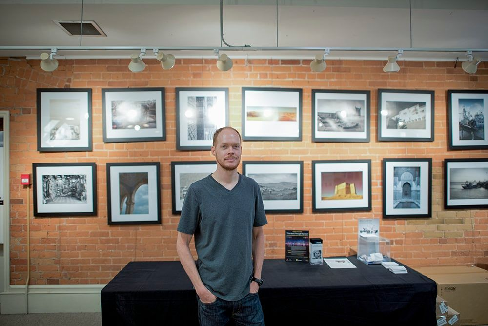 Brad Fisher in front of his gallery