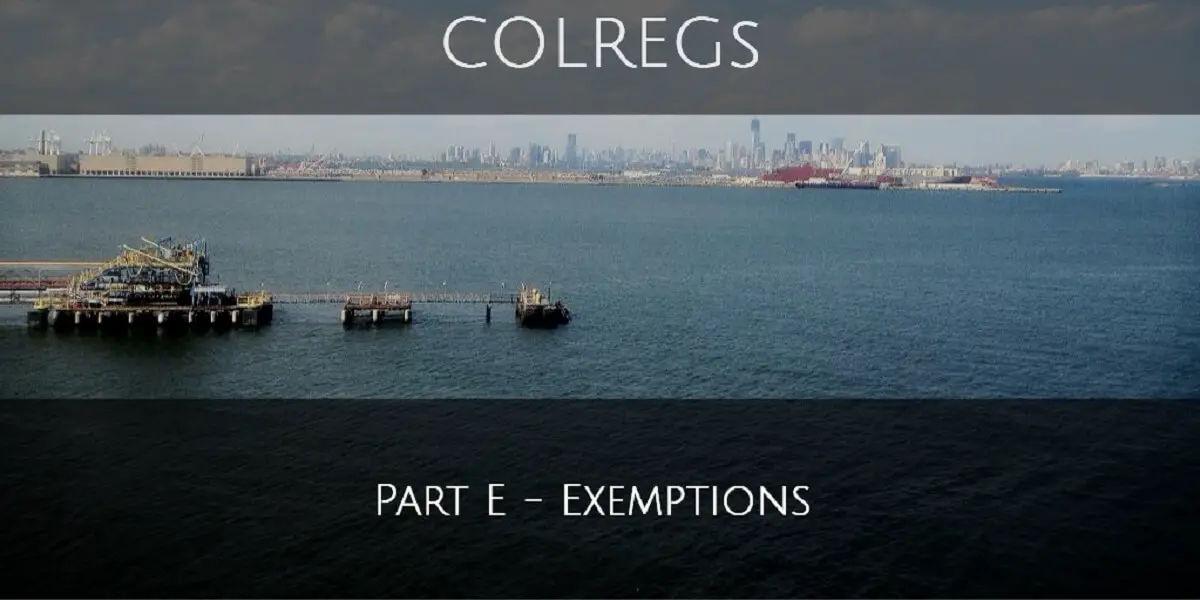 Part E - Exemptions