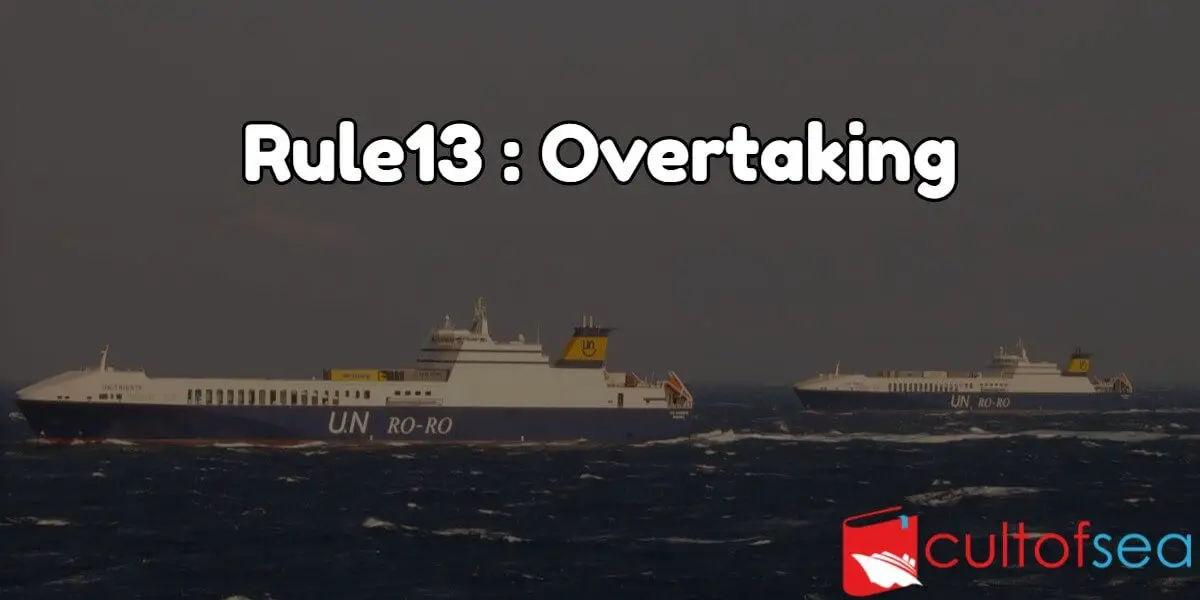 Ships overtaking