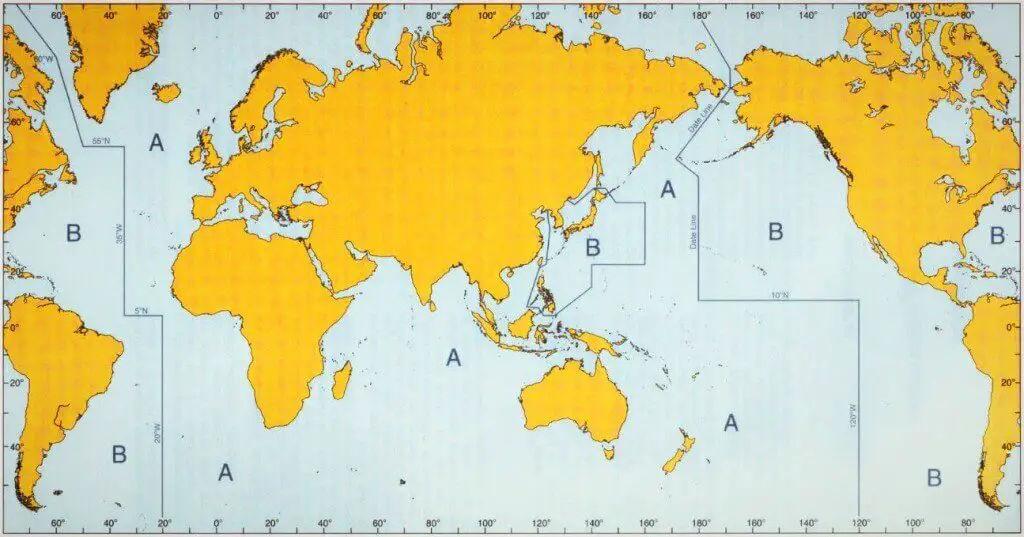 Buoyage System Regions