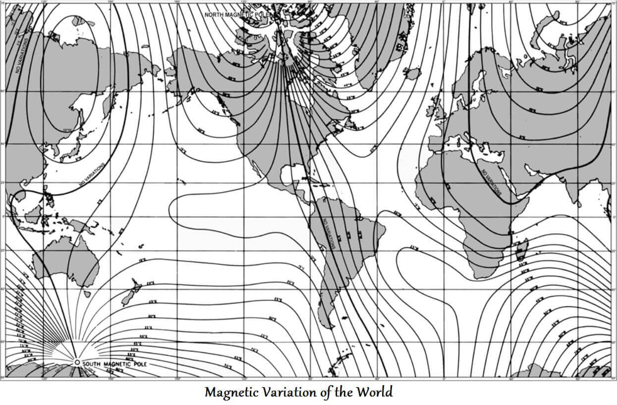 magnetic variation of the world