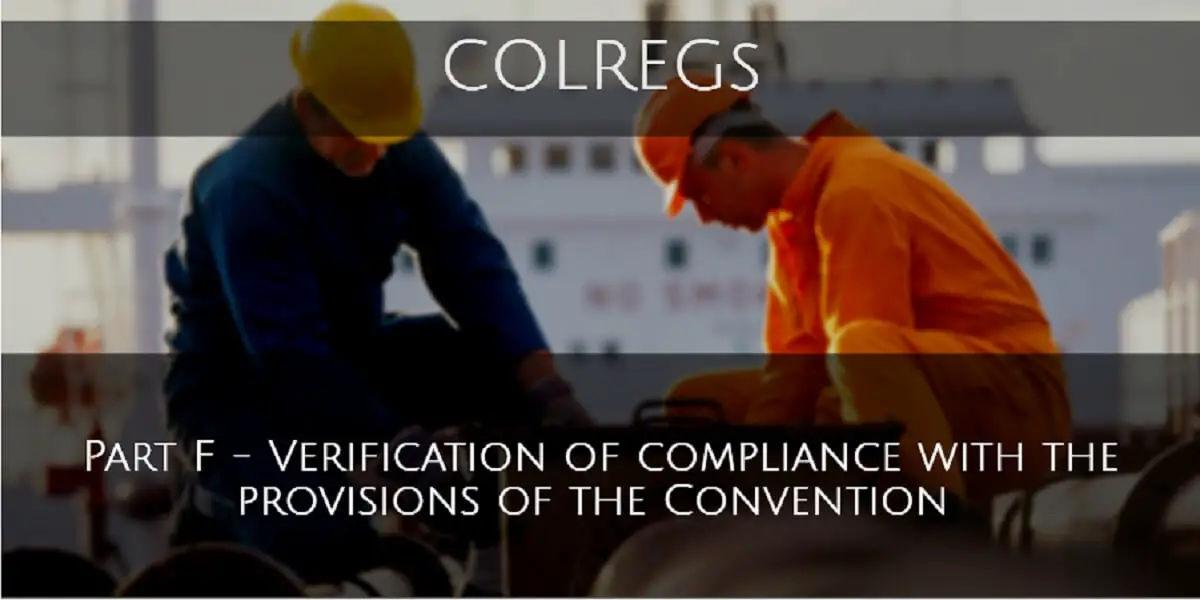 Part F - Verification of Compliance
