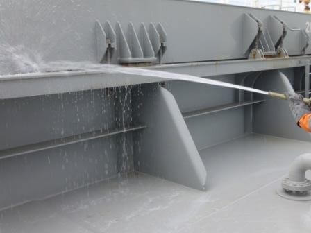 Hatch Covers Leak Test by Water